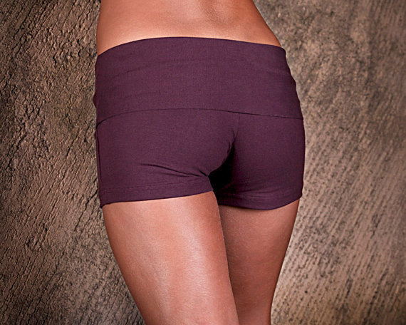 Womens Shorts Yoga Shorts Hot Pants Yoga Clothing by eleven44