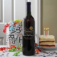 Gift Ideas: Personalized Birthday Wine Bottles - Birthday Balloons