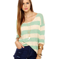 Cute Knit Top - Striped Sweater - Knit Sweater - &amp;#36;38.00