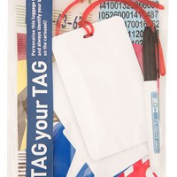 Flight 001 'Tag Your Tag' Luggage Tags (Set of 2)