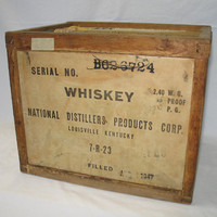 Vintage Old Sunny Brook Brand Whiskey Shipping Crate by ifindubuy