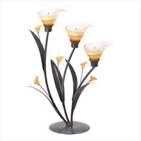 Amber Lilies Tealight Holder | GiftBytes - Home & Garden on ArtFire