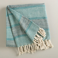 Aqua Monochrome Throw - World Market