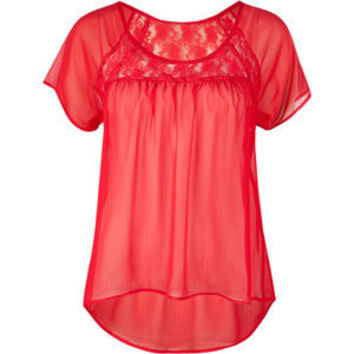 FULL TILT Lace Woven Womens Top | Tillys.com