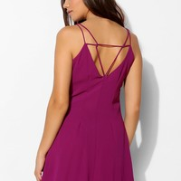 Sparkle & Fade Chiffon Double-Layer Slip Dress - Urban Outfitters