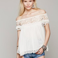 Free People Womens Heart Throb Babydoll Top -
