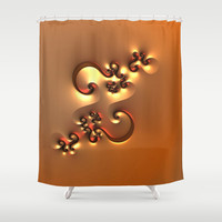Curvy One Shower Curtain by Lyle Hatch | Society6