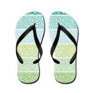 Zen Pebbles Flip Flops> Pom Graphic Design