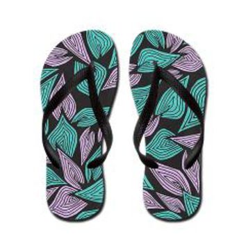 Winter Wind Flip Flops> Pom Graphic Design