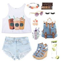 Frappuccino Drawing Crop Tank Top