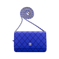Chanel Royal Blue Quilted Wallet On Chain (WOC)
