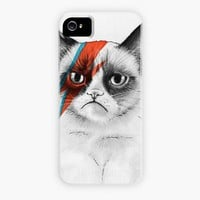 """Grumpy Cat as David Bowie Grumpy Bowie"" - Phone Case by Olga Shvartsur"