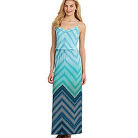 Vince Camuto Ombre Chevron Maxi Dress | Dillards.com