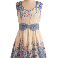 Secluded Garden Dress | Mod Retro Vintage Printed Dresses | ModCloth.com