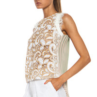 Poly Macrame Top in Lace