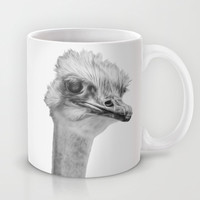 Whats up? - (the ever inquisitive Ostrich) Mug by Bruce Stanfield
