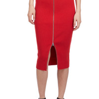 T BY ALEXANDER WANG 2 WAY ZIP LONG SKIRT - WOMEN - JUST IN - T BY ALEXANDER WANG - OPENING CEREMONY