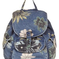 Topshop 'Mom' Floral Denim Backpack | Nordstrom