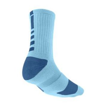 Nike Elite Crew Basketball Socks Medium/1 Pair - Polarized Blue