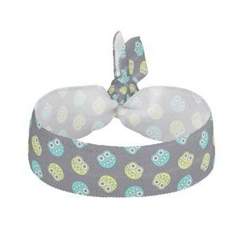 Blue And Green Funny Bugs Pattern Hair Tie