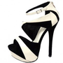 FAUX SUEDE COLOR BLOCK SEXY STILETTO SANDALS-Sandals-Sexy Sandal, High heel sandals, prom dress sandals, Evening dress sandals, Party Dress sandals, Club Dress sandals, Thong sandals