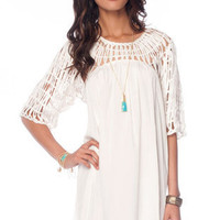 Broken Strings Dress in Ivory :: tobi