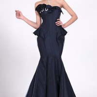 Strapless New Elegant Fish Tail Prom Gown - Basadress.com