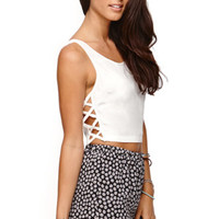 Lush Lattice Side Cutout Cropped Tank at PacSun.com