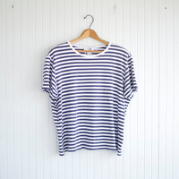 Vintage Oversized Nautical Stripe Tee