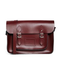 "Cambridge Satchel Company 14"" Leather Satchel in Oxblood"