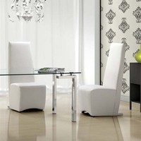 Zuo Modern - Allusion Dining Chair in White (set of 4) - 102189
