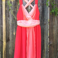 Dans L&#x27;amour Party Dress in Coral | deloom