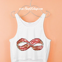 Inifinity Bacon Crop Tank Top