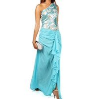 Jacelyn- Blue Long Prom Dress