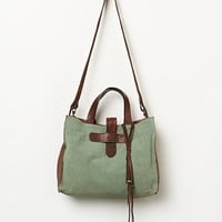 McFadin Womens Everett Leather Tote - Pale Turquoise One