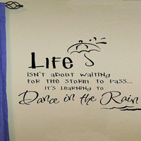 vinyl wall decal quote Life isnt about by WallDecalsAndQuotes