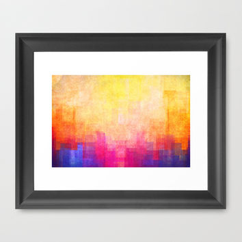 Magic Sunset Framed Art Print by SensualPatterns