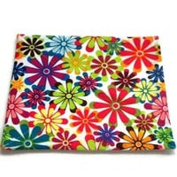Spring Flowers Mousepad Colorful | kathisewnsew - Housewares on ArtFire