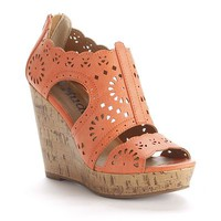 Cutout Platform Wedge Sandals - Women