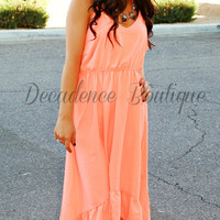 SUMMER DREAM DRESS IN NEON CORAL