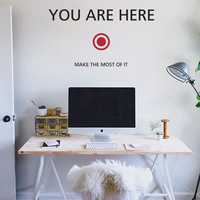 Vinylize Wall Deco - Mini You Are Here - Wall Sticker | Vinylize Wall Deco