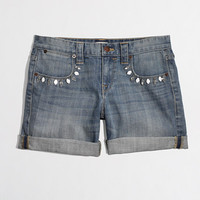 Factory jeweled denim short - denim - FactoryWomen's Shorts - J.Crew Factory