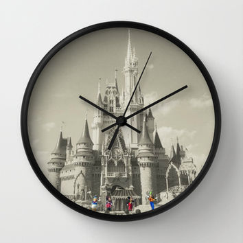 Walt Disney World Wall Clock by Abigail Ann | Society6