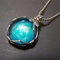 Skyfire Shimmerstone Pendant fancy wire wrapped by BrightCircle