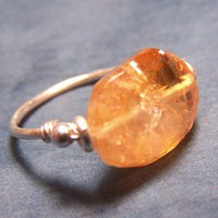 Crystallized Honey Citrine Ring by BrightCircle on Etsy