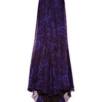 Marchesa Embellished silk-chiffon strapless gown - 50% Off Now at THE OUTNET