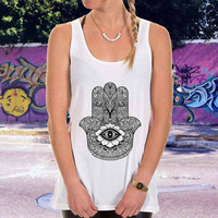 chamsa hamsa hand or men,women,tank top