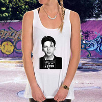 Frank Sinatra Mugshot for men,women,tank top