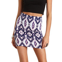 BODYCON IKAT PRINT MINI SKIRT