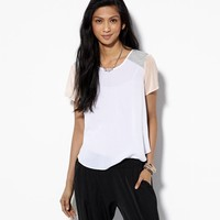 AEO COLORBLOCK CHIFFON SHIRT